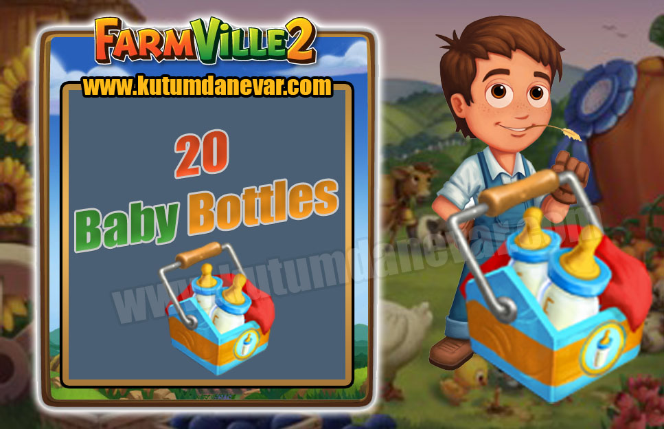 Farmville 2 free 20 baby bottles gifts for the 3rd time in 15 July 2019 Monday