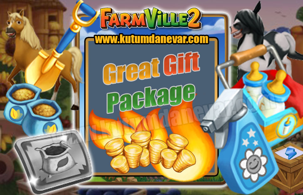 Farmville 2 free great gift package for the 9th time in 15 July 2019 Monday. Farmville 2  Speed Grow -Super Feed  and Water Pack